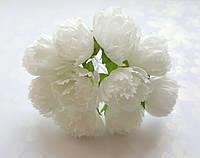 Цветы Пионы Молочные 2.5 см диаметр 10 шт/уп