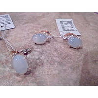 Ювелирный набор из серебра с золотом с лунным камнем