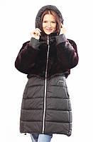 Теплая осенне-зимняя куртка с мехом 44,46,48,50,52