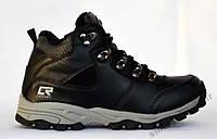 Ботинки - кроссовки на меху из натуральной кожи. Размеры 33, 34, 35, 36, 37. Crosby 458220.