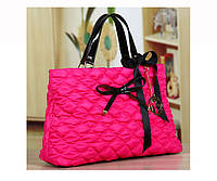 В НАЛИЧИИ Стильная розовая женская сумка текстиль