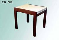 Стол кухонный раздвижной ТРЕМБИТА  арт. СК №1 — натуральное дерево
