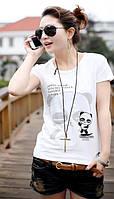 В НАЛИЧИИ футболка хлопок коттон принт с блестками