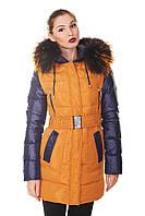 Куртка пуховик зимняя женская с мехом капюшоном 50 размер