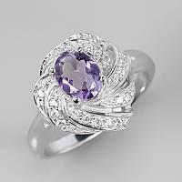Кольцо Серебро 925 Натуральный  аметист р18.2