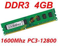 Kingston DDR3 4Gb 12800 1600Мгц AMD 4G