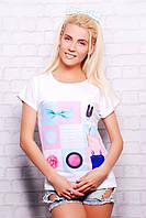 футболка GLEM Леди футболка Кимоно