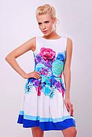 Платье  Летний букет голубой Мия