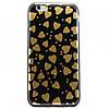 Чехол-накладка для Apple iPhone 6S iPhone 6, силиконовый, Black-Gold series, черный с золотистым /case/кейс