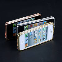 Металлический бампер стразы камни Swarovski iPhone 4 4s