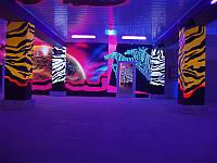 Флуоресцентная (ультраф.) краска для интерьера