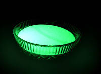 Невидимый светящийся порошок ТАТ 33 для краски - салатовое свечение, фото 1