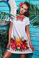 Платье свободного покроя белое Орхидея Тая