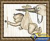 Схема для вышивки бисером - Аист приносит ребенка, Арт. ЛБч3-031-2