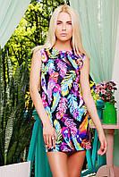 Платье легкое с принтом Перья Лея