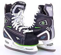 Коньки хоккейные PVC (р-р 36-46, лезвие-сталь)