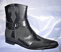 Сапоги казаки мужские, черные, зимние, натуральная кожа. Размеры 41, 42, 43. Patriot 11Z834.