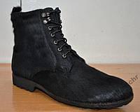 Ботинки мужские на меху из натуральной нерпы, на длину стельки 28.5 сантиметров. Tezoro MZ11014.