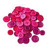 Набір декоративних гудзиків 11-14 мм, 60 шт. рожевий