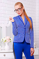 Синий женский Пиджак в стиле Шанель