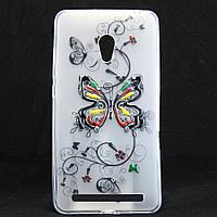 """Чехол-накладка для ASUS Zenfone 6 A600CG, """"Butterfly"""", со стразами, силиконовый /case/кейс /асус зенфон"""