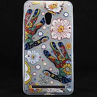 """Чехол-накладка для ASUS Zenfone 6 A600CG, """"Hands with flowers"""", со стразами, силиконовый /case/кейс /асус"""