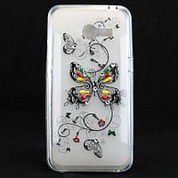 """Чехол-накладка для Asus ZenFone 4, """"Butterfly"""", со стразами, силиконовый /case/кейс /асус зенфон"""