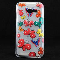 """Чехол-накладка для Asus ZenFone 4, """"Colour Butterflies"""", со стразами, силиконовый /case/кейс /асус зенфон"""