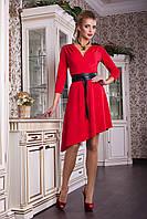 Платье красное с ассиметричным низом Герда