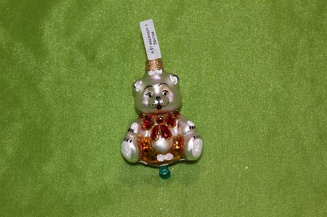 Новорічна іграшка А 51 Ведмідь з бантом
