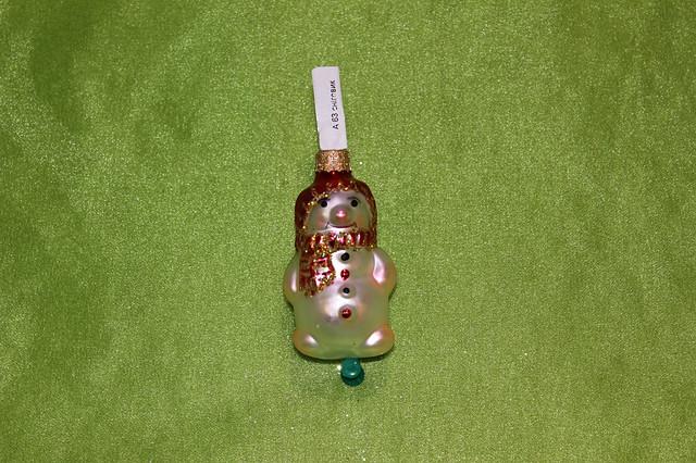 Новогодняя игрушка А 63 Снеговик