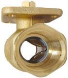 Двухходовой регулирующий шаровой кран Herz 20 без ручного управления, с  внутренней резьбой, РN 40