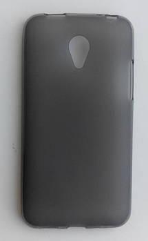 Силиконовый чехол серый матовый Meizu M1 mini