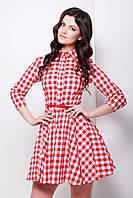 Платье 100% хлопок легкое красное Рашель