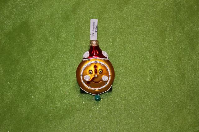 Новогодняя игрушка КА 77 Часы круглые