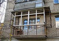 Изготовление металлических конструкций балкона c возможностью расширения