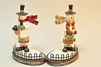 Подсвечник Снеговик для украшения дома на новый год