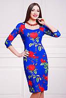 Платье Роза синий Вики