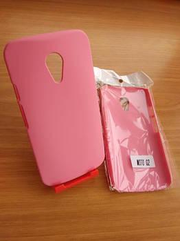 Бампер розовый Motorola Moto G 2014 2nd Gen G2 G+1