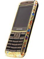 Мобильный телефон Vertu Hermes C19 Gold 2 Sim Bluetooth Mp3 Mp4