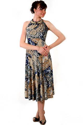 Платье женское с бусами
