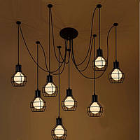 Подвесной светильник LOFT [ Spider cage  - 8 Lamp Edisons ]