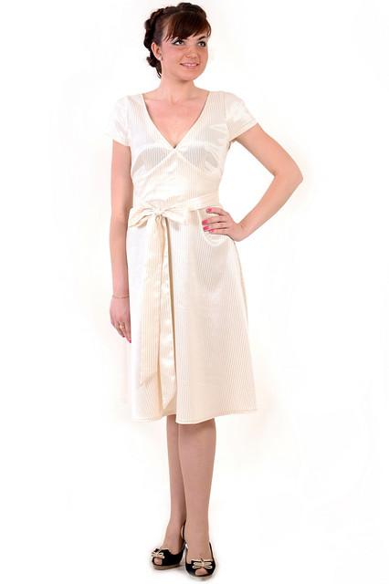 Платье женское из жаккардового шелка с поясом, интернет магазин женской одежды  пл 790