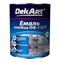 """Эмаль алкидная ПФ-115 TM """"DekArt"""" вишневая - 0,9 кг."""