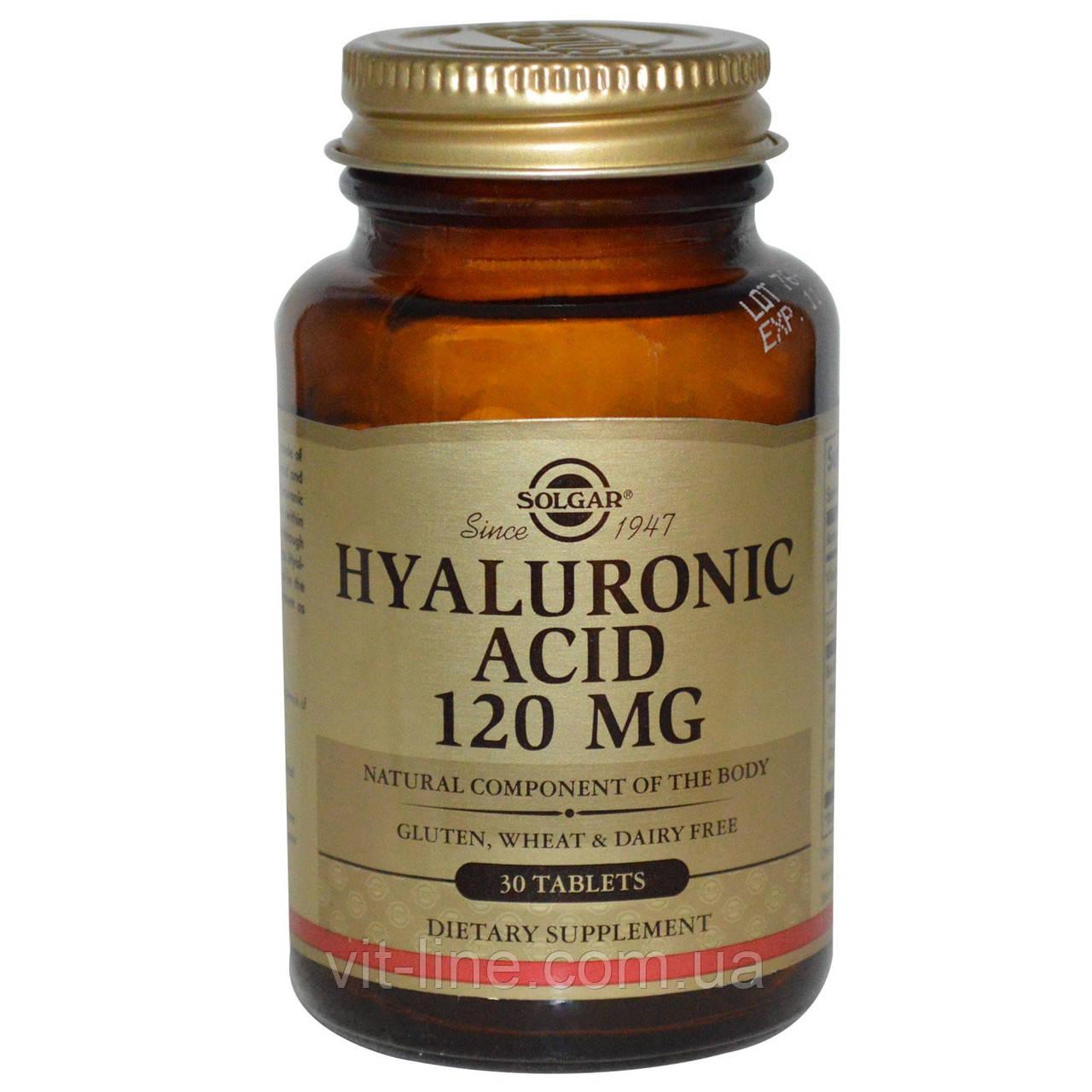 Solgar Гіалуронова кислота 120 мг 30 таблеток