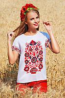 Блуза женская Узор цветы Кимоно 2Н к/р