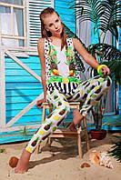 Майка летняя женская с ярким фруктовым принтом