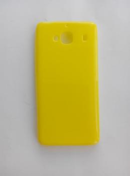 Силиконовый чехол желтый глянцевый Xiaomi Redmi 2