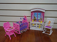 Мебель для кукол (барби) Gloria «Детская» 24022 для детской, в кор. 31*18*5см