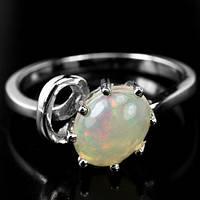 Кольцо Серебро 925 Натуральный опал р17.35